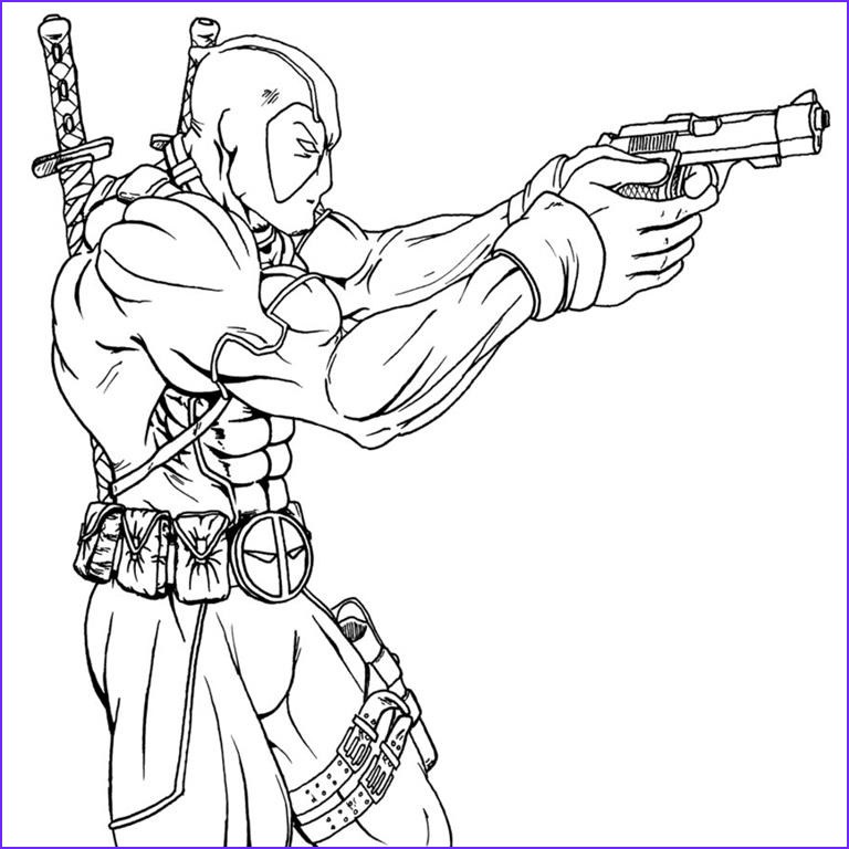 deadpool free coloring pages to print