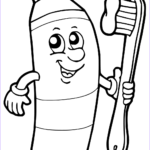 Dentist Coloring Pages Luxury Photos Toothbrush And Toothpaste Drawing At Getdrawings