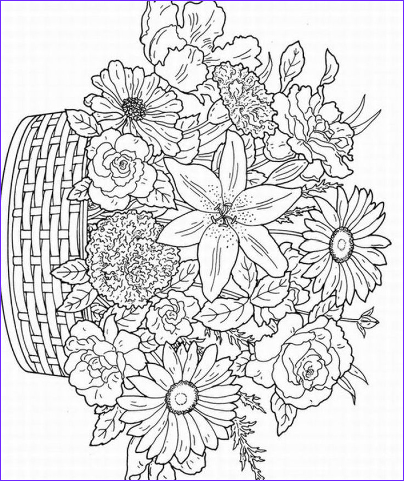 Detailed Coloring Pages for Adults Luxury Stock Get This Detailed Flower Coloring Pages for Adults