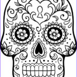 Dia De Los Muertos Coloring Awesome Image Love Skulls Colouring Pages Page 2