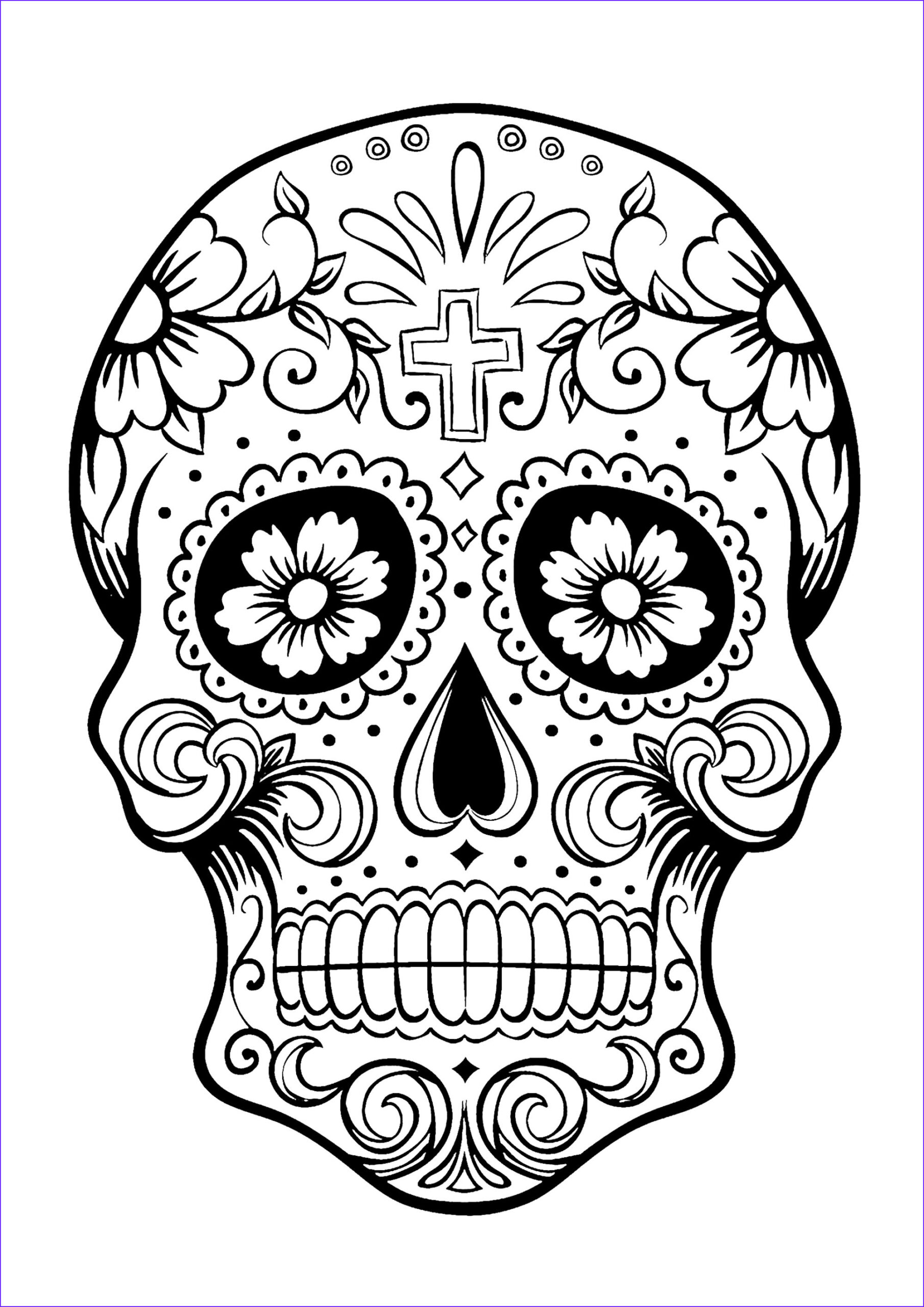 Dia De Los Muertos Coloring Awesome Photography Skull Coloring Pages for Adults
