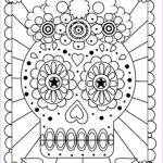 Dia De Los Muertos Coloring Best Of Collection Free Printable Day Of The Dead Coloring Pages Best