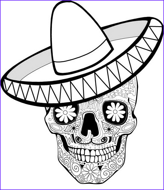 Dia De Los Muertos Coloring Cool Collection Day Of the Dead Coloring and Craft Activities Family