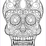 Dia De Los Muertos Coloring Cool Image Skull Coloring Pages For Adults