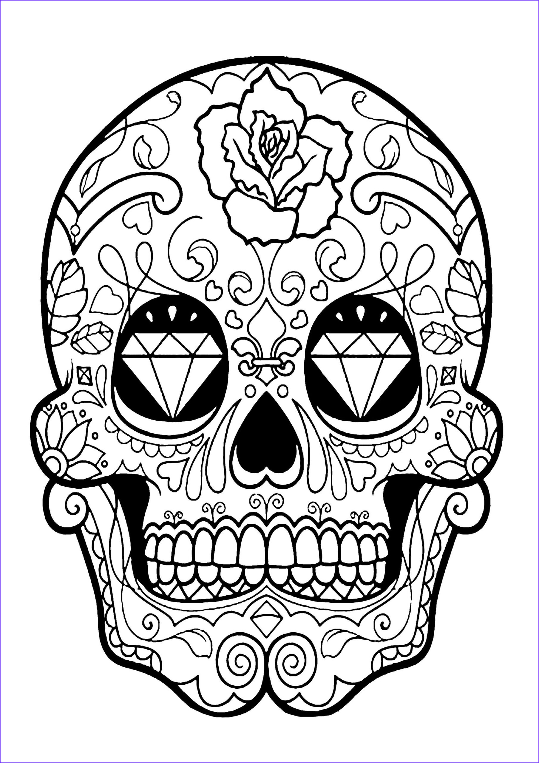 Dia De Los Muertos Coloring Sheets Awesome Photos Skull Coloring Pages for Adults