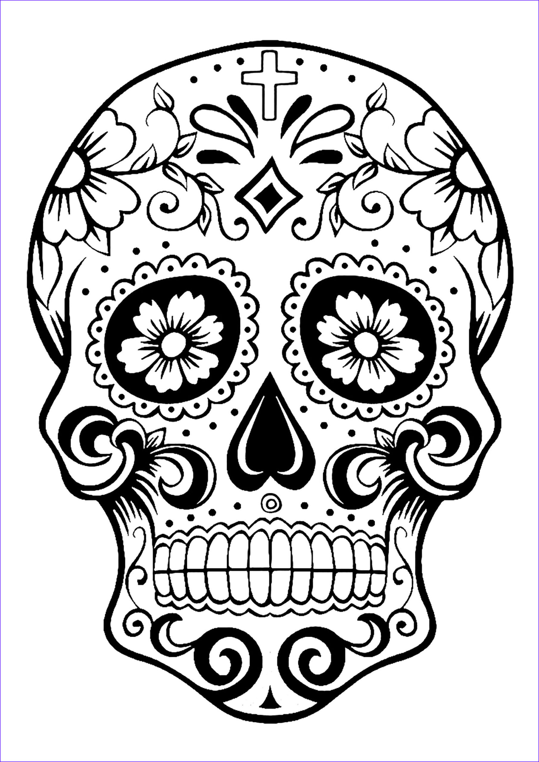 Dia De Los Muertos Coloring Sheets Best Of Stock Skull Coloring Pages for Adults
