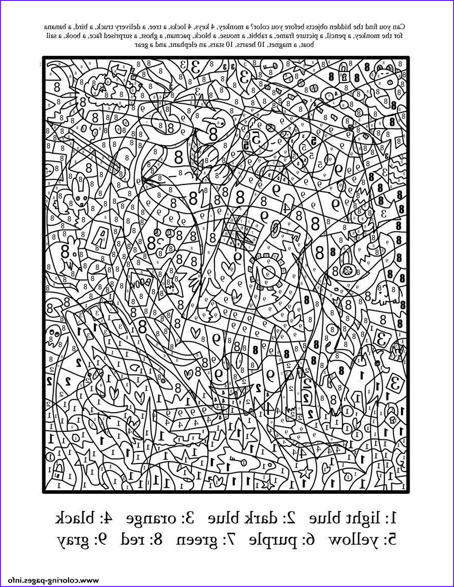 Difficult Coloring Pages Awesome Image Print Really Hard Difficult Color by Number for Adults