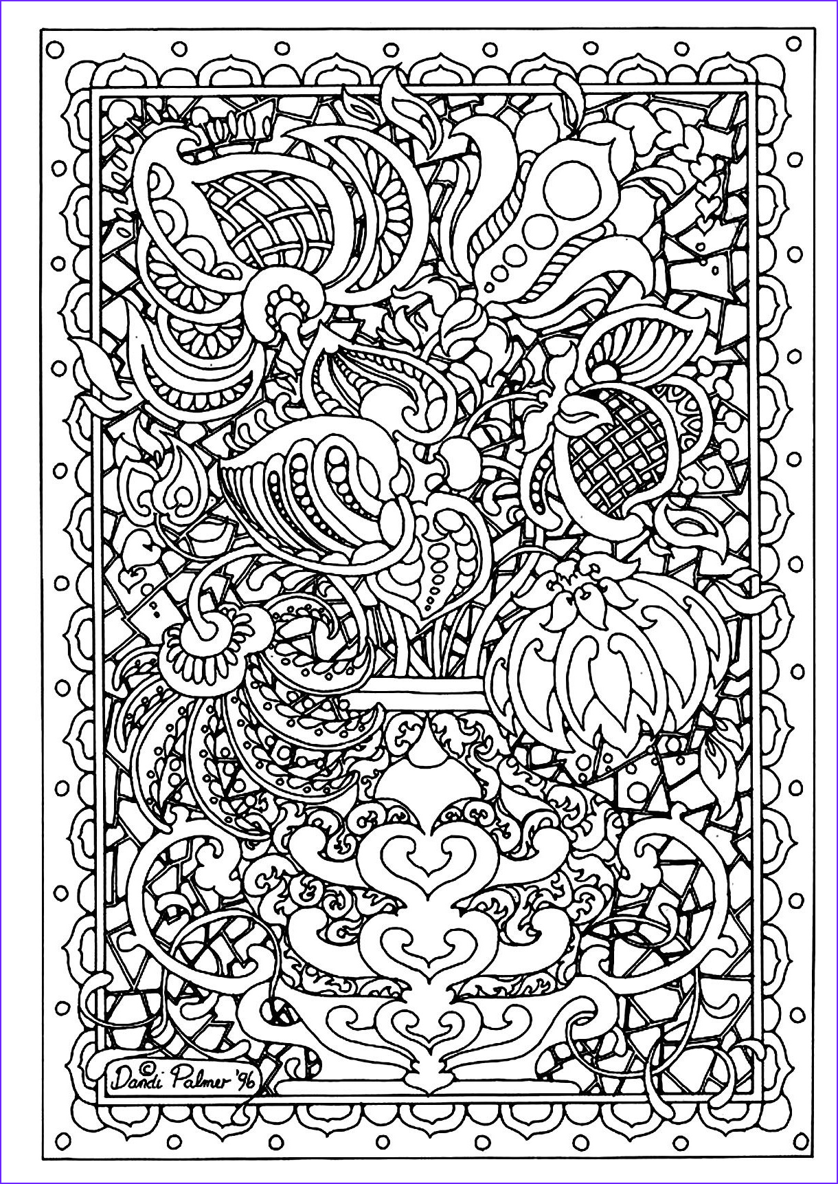 Difficult Coloring Pages New Collection Free Coloring Page Coloring Adult Flower Difficult