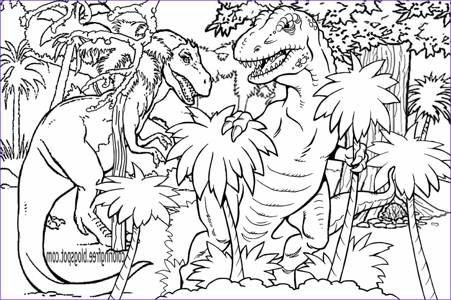Dinosaur Coloring Awesome Images Free Coloring Pages Printable to Color Kids