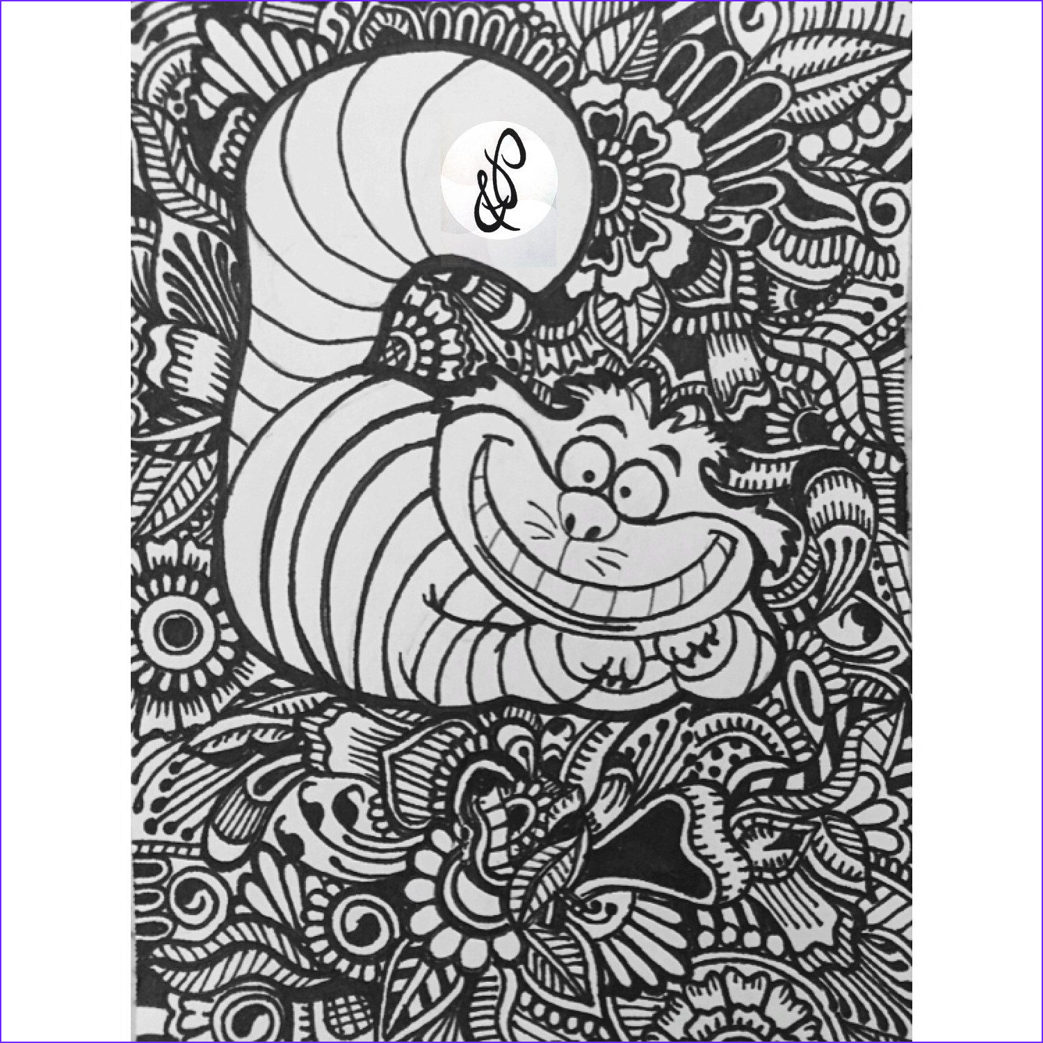 Disney Adult Coloring Book Awesome Photography Conception De Chat De Cheshire