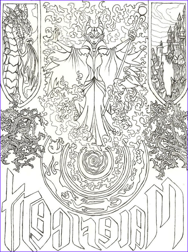 Disney Adult Coloring Book Best Of Photos Maleficent S Evil Spell by Liakahi D5exd67 773×1033