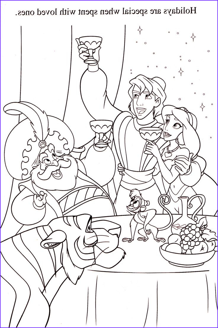coloring pages 4 aladdin