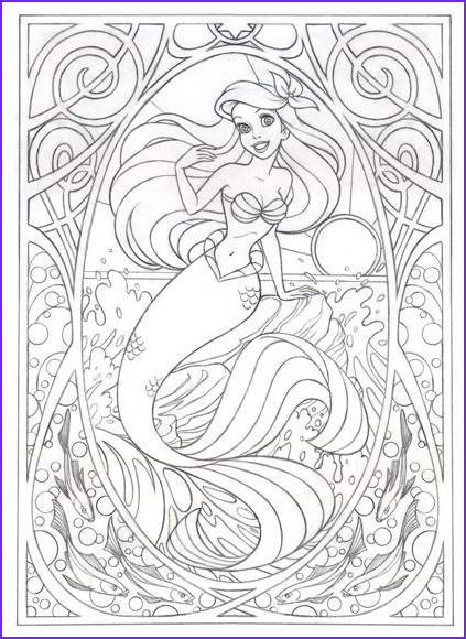 Disney Coloring Book for Adults Beautiful Gallery Coloring Page for Later This Art Nouveau