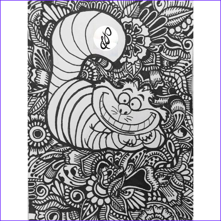 Disney Coloring Book for Adults New Gallery Conception De Chat De Cheshire