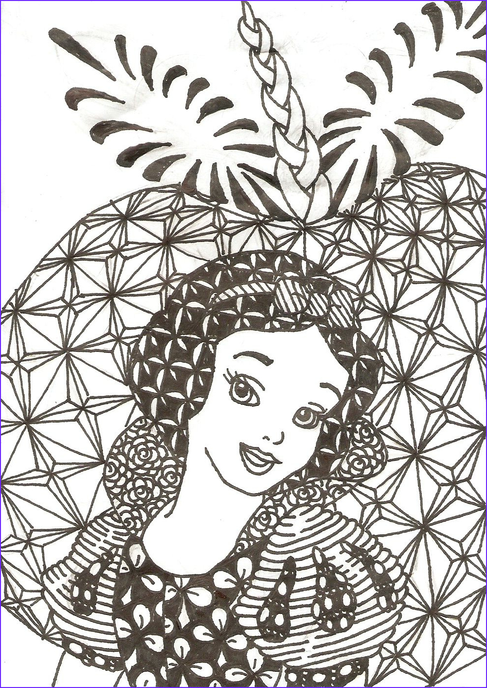 Disney Coloring Book for Adults New Photos Zentangled Princesses Snow White by Crystal Of Ix