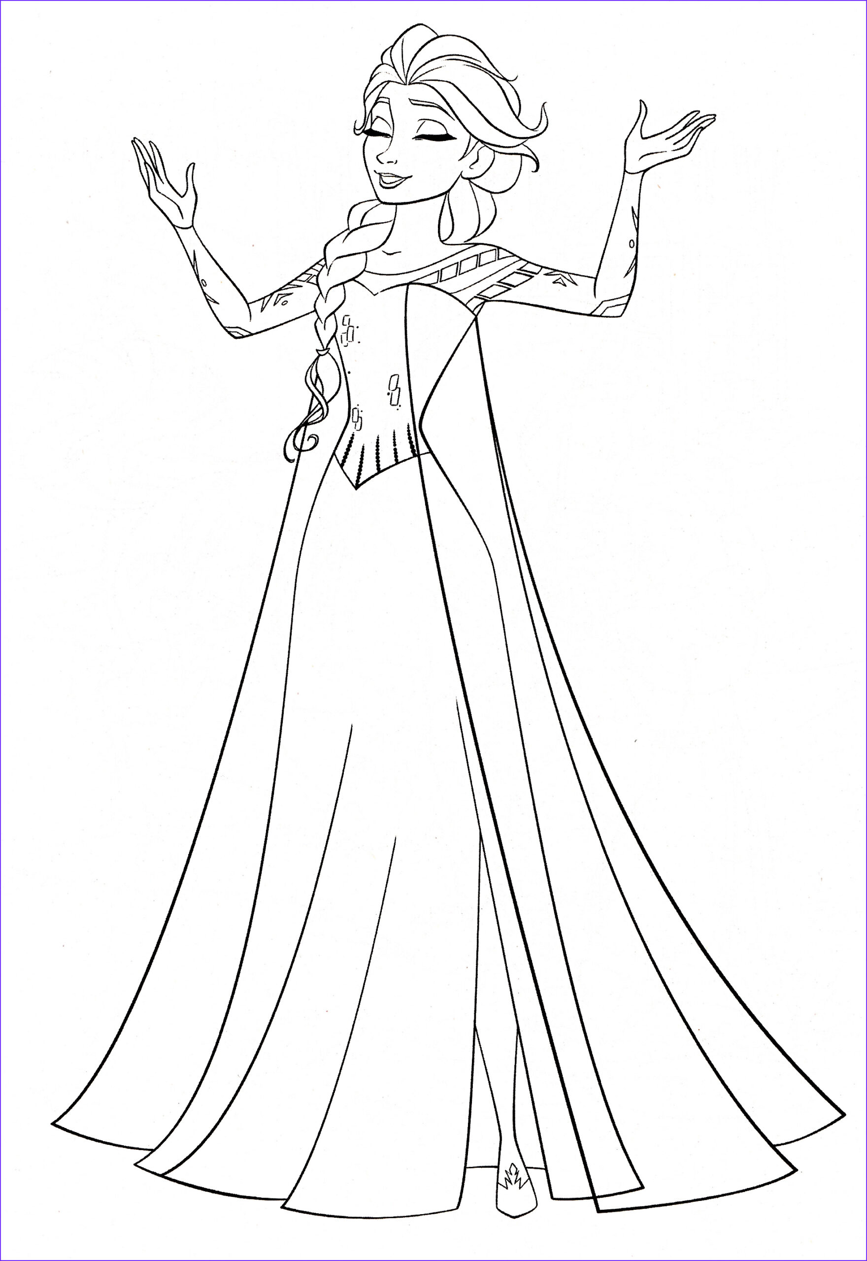 disneys frozen colouring pages
