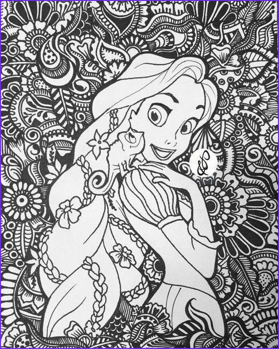 Disney Princess Adult Coloring Book Unique Images Tangled for Princesscasey by Jamierose Coloringpage