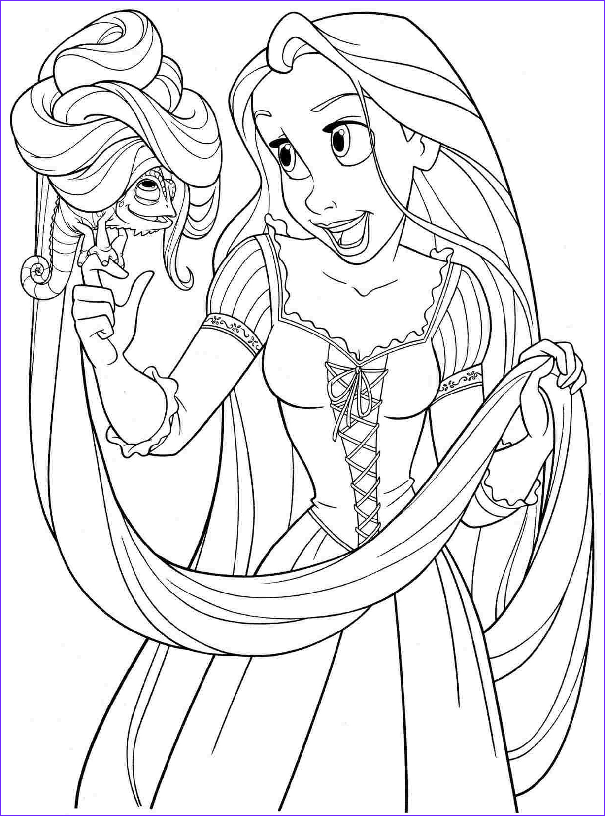 Disney Princess Coloring Book Best Of Collection Printable Free Colouring Pages Disney Princess Rapunzel