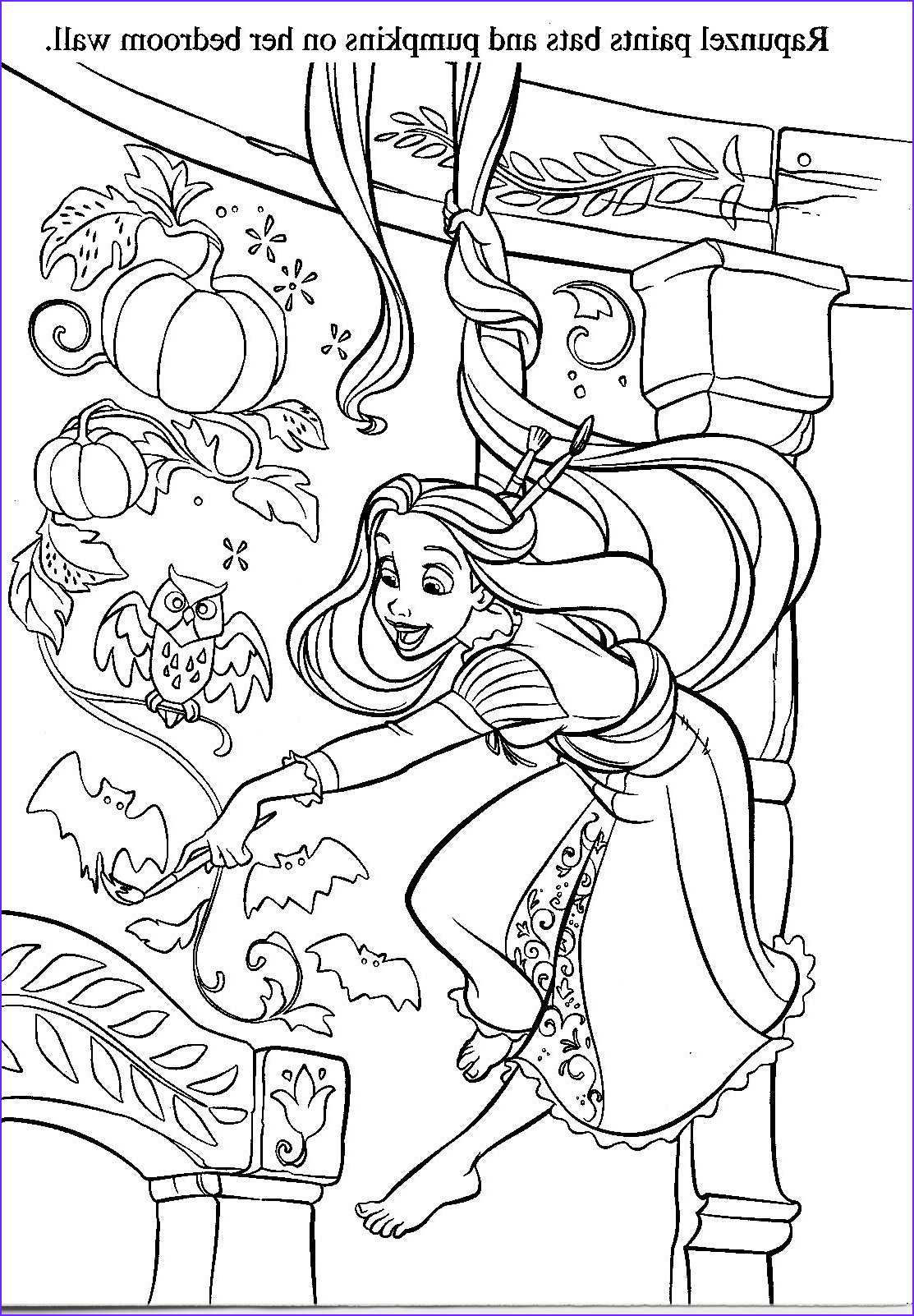 Disney Princess Halloween Coloring Pages Luxury Photos Halloween Coloring with Rapunzel