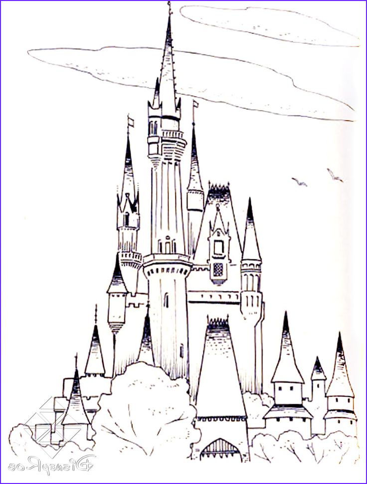 Disney World Coloring Pages Best Of Stock Frozen Cinderella Castle