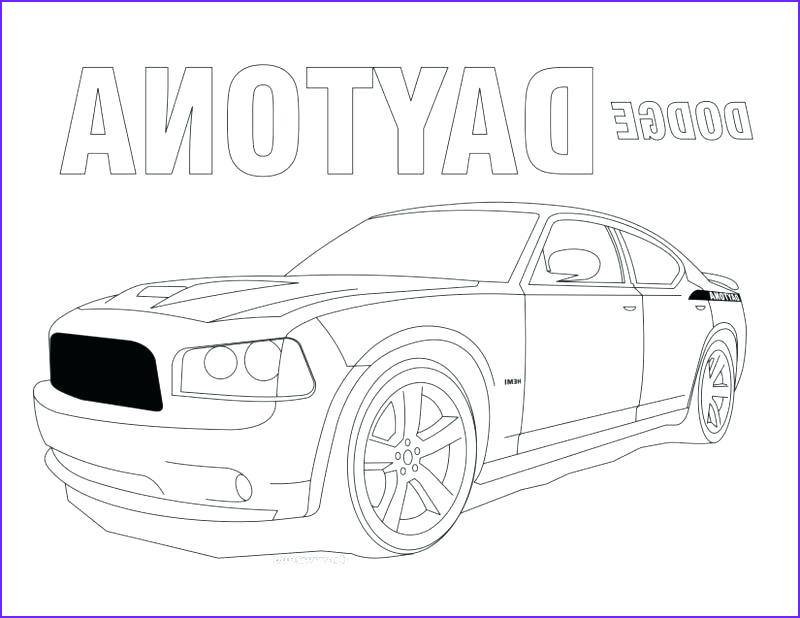 dodge charger drawing