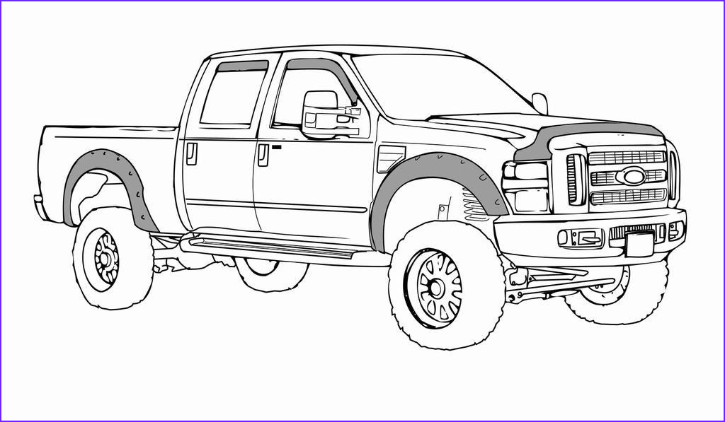 dodge ram coloring pages kids line drawing
