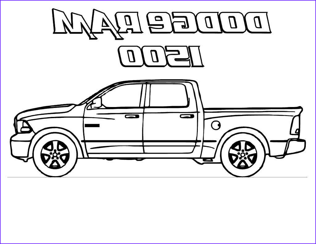 dodge ram coloring pages truck book