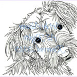 Dog Adult Coloring Book Awesome Photography Schnauzer Love Dogs Digital Download Coloring Books For