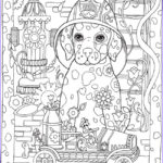 Dog Adult Coloring Book Beautiful Collection Coloring Pages Be Dazzled With These Cute Dog And Five