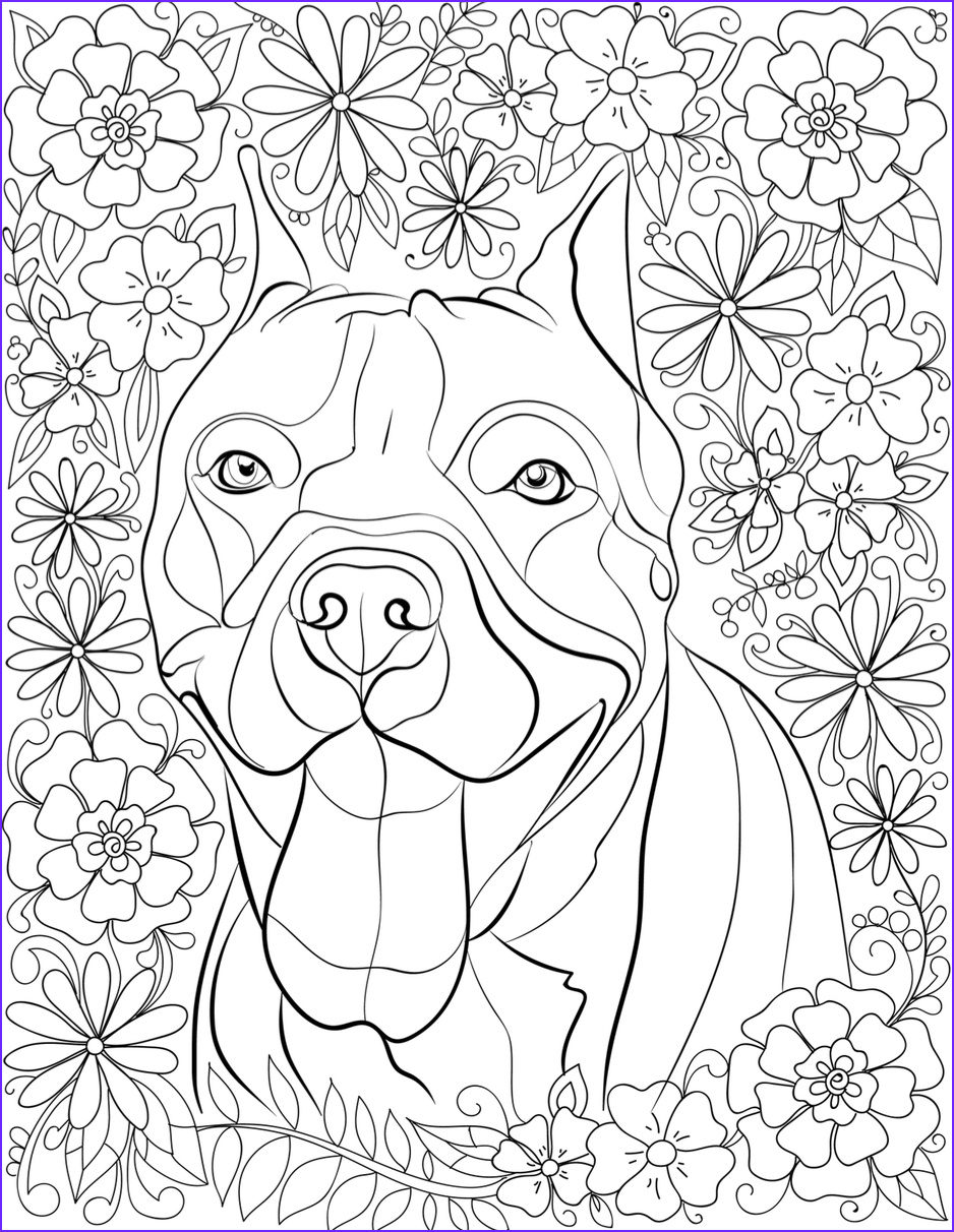 rescued pit bull coloring book destress with coloring