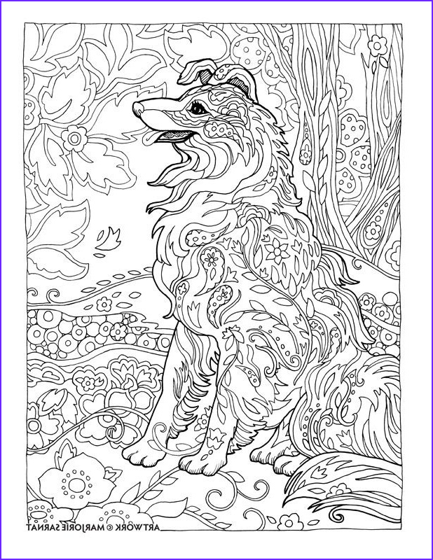 Dog Adult Coloring Book Cool Images Creative Haven Dazzling Dogs Coloring Book by Marjorie