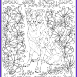 Dog Adult Coloring Book Elegant Gallery De Stress With Dogs Downloadable 10 Page Coloring Book