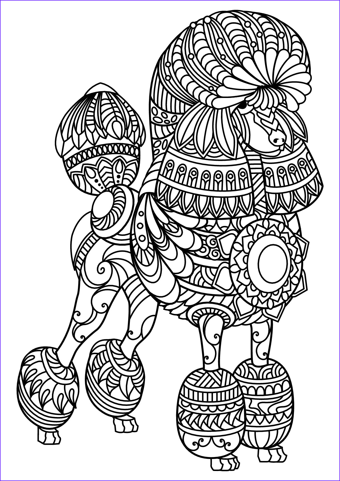 image=dogs coloring free book dog poodle 1