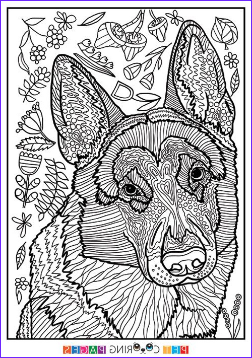 Dog Adult Coloring Book New Gallery Free Printable German Shepherd Dog Coloring Page Available