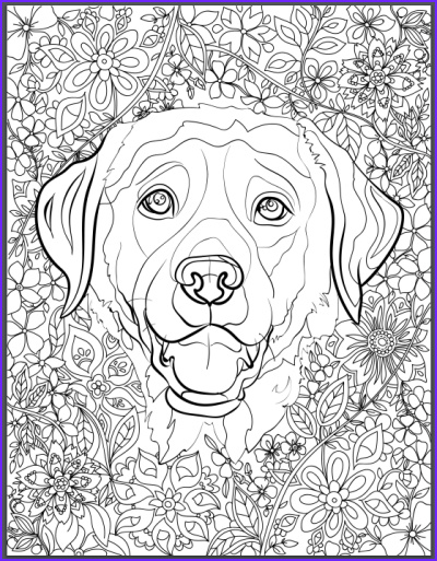 Dog Adult Coloring Book New Photos De Stress with Dogs Downloadable 10 Page Coloring Book