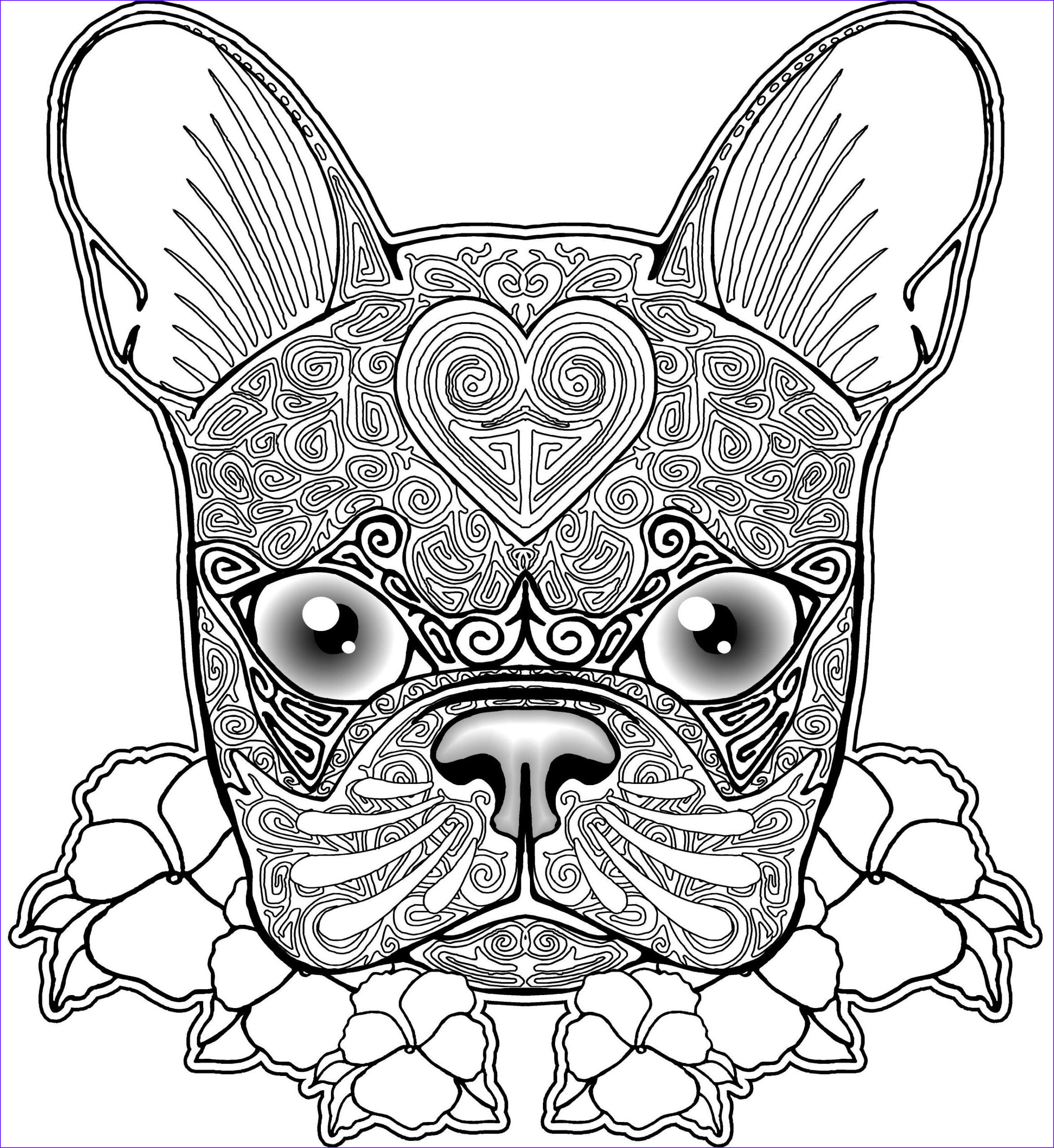 Dog Coloring Book for Adults Awesome Photos Pug Dog Coloring Pages Coloring Home