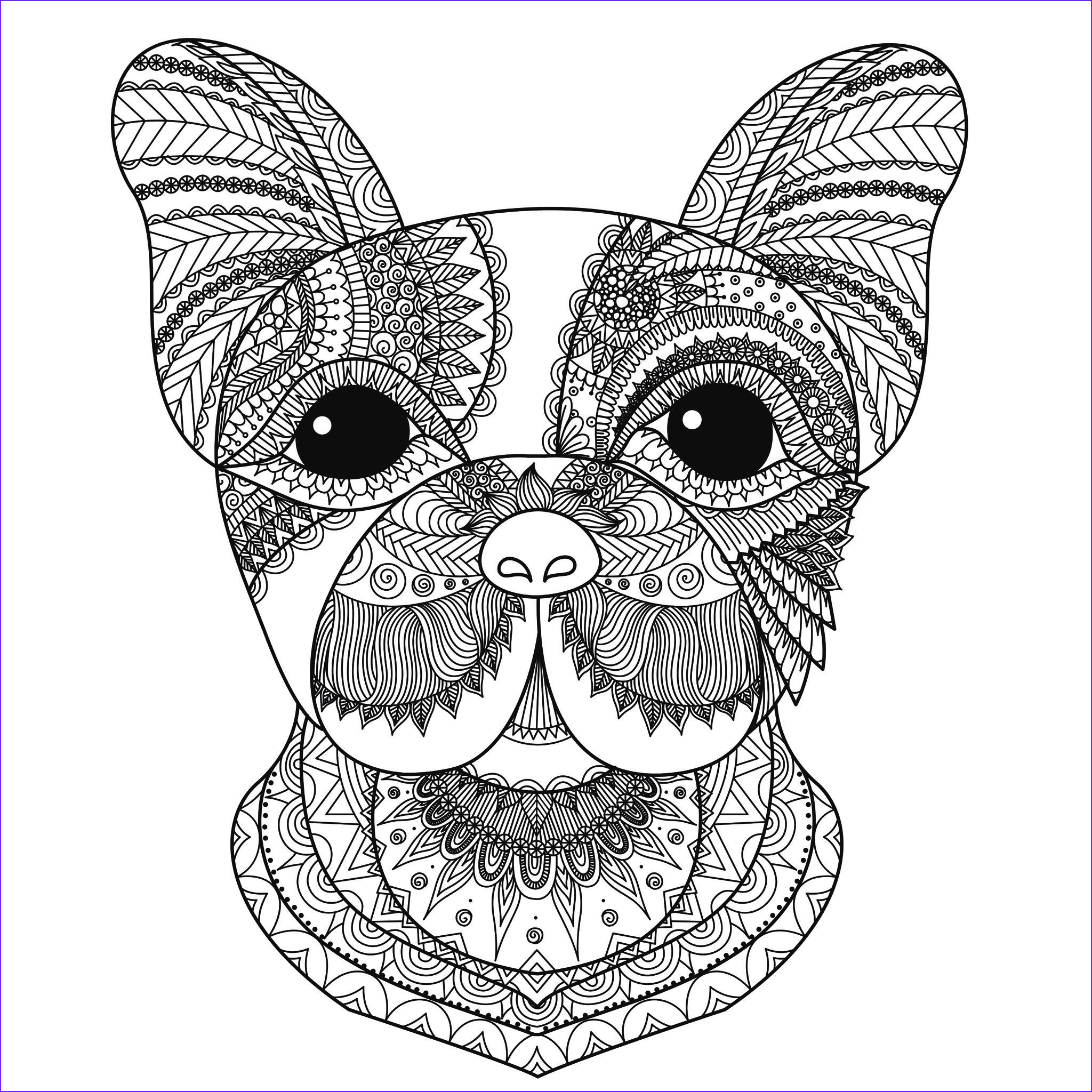 image=dogs coloring pages adults dog head bimdeedee 1