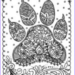 Dog Coloring Book For Adults Unique Photos Instant Download Dog Paw Print You Be The Artist Dog