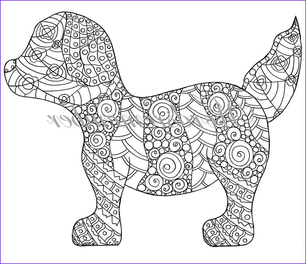 puppy coloring page adult coloring