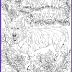 Dogs Coloring Pages For Adults Cool Images De Stress With Dogs Downloadable 10 Page Coloring Book