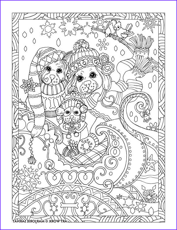 Dogs Coloring Pages for Adults Elegant Photos Creative Haven Dazzling Dogs Coloring Book by Marjorie