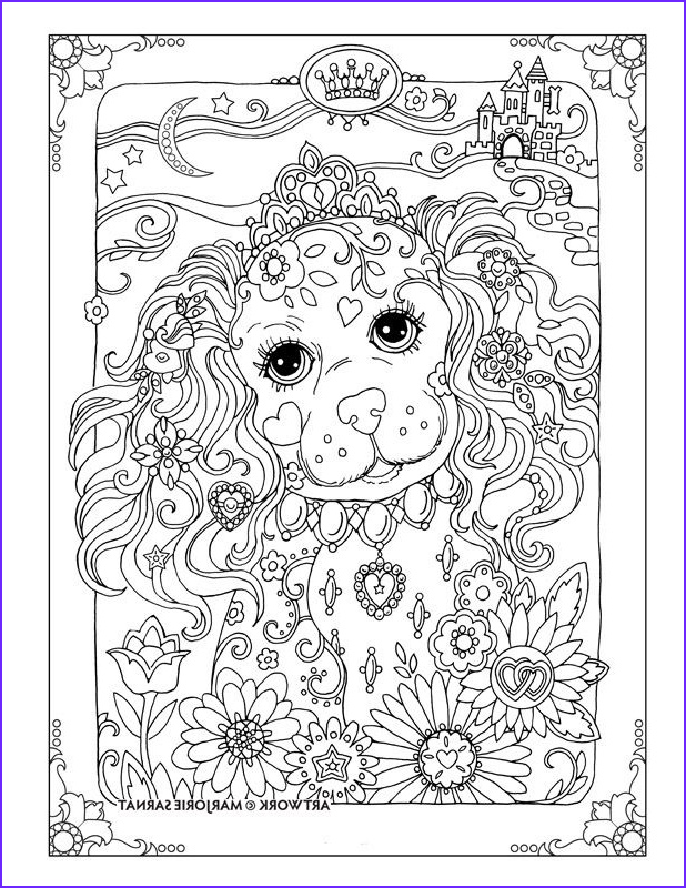 Dogs Coloring Pages for Adults Inspirational Photos Creative Haven Dazzling Dogs Coloring Book by Marjorie