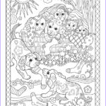 Dogs Coloring Pages For Adults Unique Gallery Playful Puppies — Marjorie Sarnat Design & Illustration