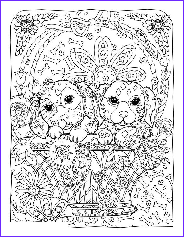printable coloring pages for adults dogs