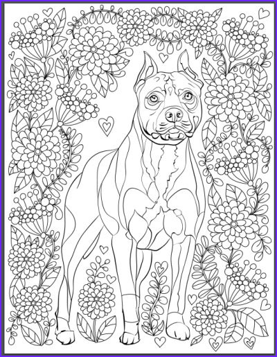 Dogs Coloring Pages for Adults Unique Stock De Stress with Dogs Downloadable 10 Page Coloring Book