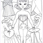 Doll Coloring Beautiful Photos Paper Dolls – Artist Drawn Marges8 S Blog