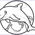 Dolphin Coloring Pictures Awesome Image Dolphin Template Animal Templates