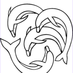 Dolphin Coloring Pictures Cool Photos Four Dolphins Coloring Page