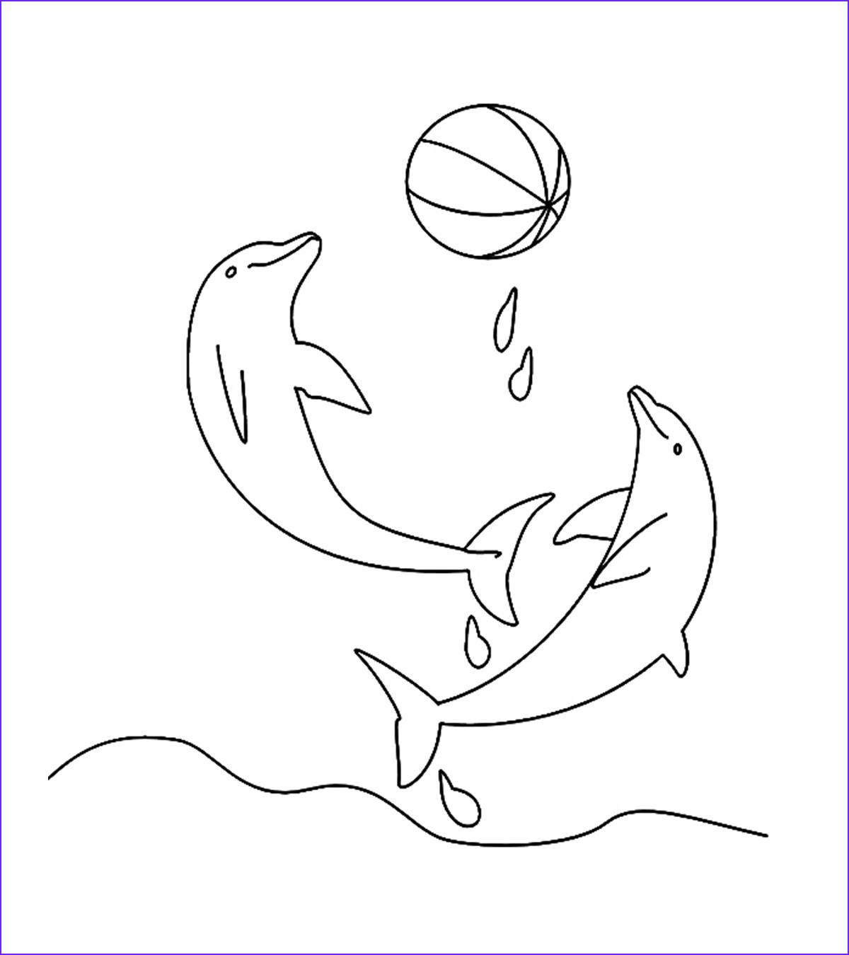 Dolphin Coloring Pictures Unique Images Animal Coloring Pages Momjunction