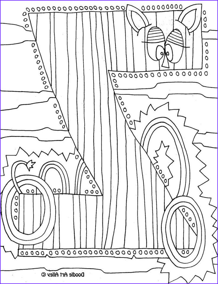 Doodle Art Coloring Pages Beautiful Image Letter Coloring Pages Doodle Art Alley